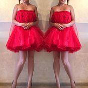Одежда ручной работы. Ярмарка Мастеров - ручная работа Платье из фатина красное. Handmade.