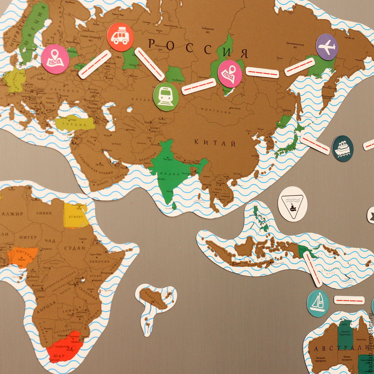 Magnetic scratch world map puzzle truemap gold shop online on magnetic scratch world map puzzle truemap gold badlab online shopping on my gumiabroncs Choice Image