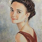 """Картины и панно ручной работы. Ярмарка Мастеров - ручная работа Портрет """"Юная"""". Handmade."""