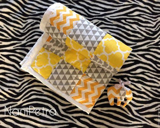 Для новорожденных, ручной работы. Ярмарка Мастеров - ручная работа. Купить Лоскутное одеяло. Handmade. Абстрактный, комбинированный, хлопок 100%