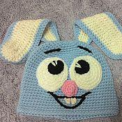 Работы для детей, ручной работы. Ярмарка Мастеров - ручная работа детская шапочка зайка. Handmade.
