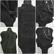 Одежда ручной работы. Ярмарка Мастеров - ручная работа Жилет шерстяной чёрный. Handmade.