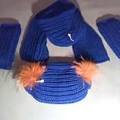 Аксессуары handmade. Livemaster - original item Knitted set of scarf,clutch,leggings. Handmade.