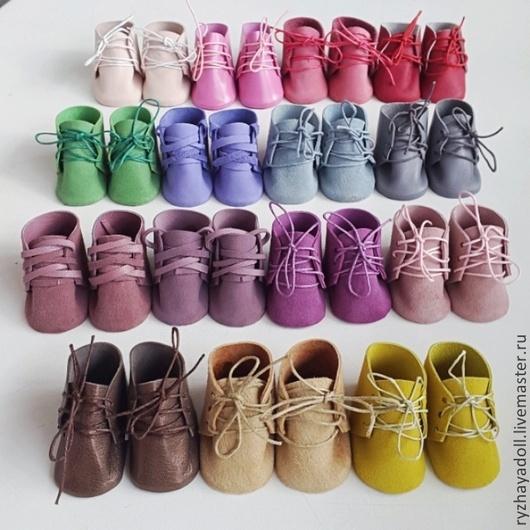 Коллекционные куклы ручной работы. Ярмарка Мастеров - ручная работа. Купить Ботиночки для кукол. Handmade. Разноцветный, обувь, обувь для игрушек