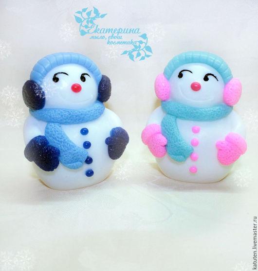 Мыло ручной работы. Ярмарка Мастеров - ручная работа. Купить Мыло Снеговик. Handmade. Комбинированный, мыло сувенирное, Новый Год