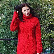 """Одежда ручной работы. Ярмарка Мастеров - ручная работа """"свитер Добрый""""красный. Handmade."""