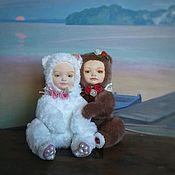 """Куклы и игрушки ручной работы. Ярмарка Мастеров - ручная работа Тедди-долл """"розочка и беляночка"""". Handmade."""