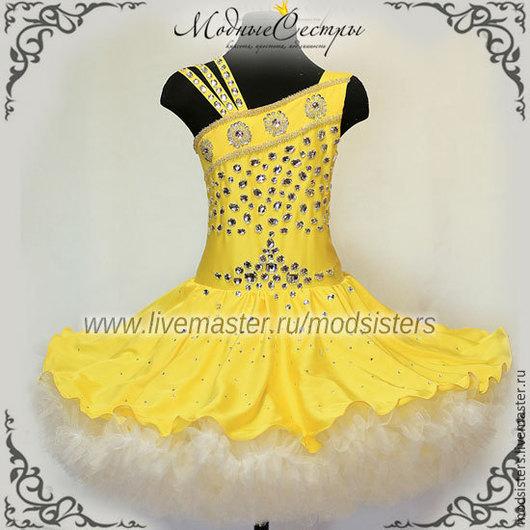 """Одежда для девочек, ручной работы. Ярмарка Мастеров - ручная работа. Купить Платье """"Желтое"""" со стразами Арт.234. Handmade."""