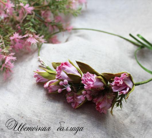 """Диадемы, обручи ручной работы. Ярмарка Мастеров - ручная работа. Купить Венок """"Полина"""". Handmade. Розовый, венок с цветами, фоамиран"""