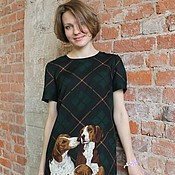 Одежда ручной работы. Ярмарка Мастеров - ручная работа Платье с собаками. Handmade.