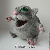 Куклы и игрушки ручной работы. Ярмарка Мастеров - ручная работа Голодный котик. Handmade.