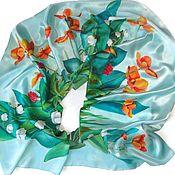 Аксессуары handmade. Livemaster - original item Batik Scarf Summer. Handmade.