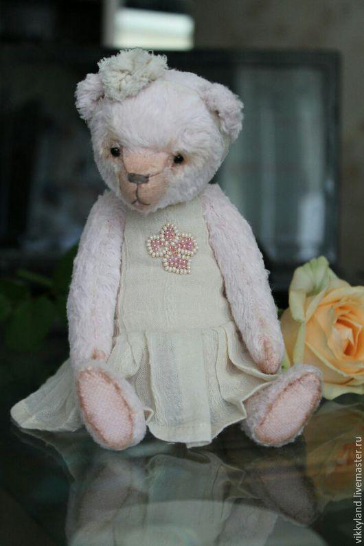 Мишки Тедди ручной работы. Ярмарка Мастеров - ручная работа. Купить Мишка Тедди Нежная Роза. Handmade. Бледно-розовый