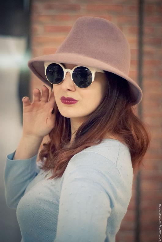 """Шляпы ручной работы. Ярмарка Мастеров - ручная работа. Купить """"Розовый жемчуг"""". Handmade. Кремовый, шляпка для девушки, москва"""