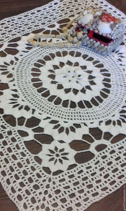 Текстиль, ковры ручной работы. Ярмарка Мастеров - ручная работа. Купить Салфетка квадратная. Handmade. Салфетка, подарок на любой случай