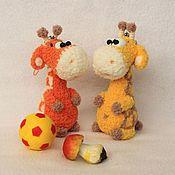Куклы и игрушки ручной работы. Ярмарка Мастеров - ручная работа Маленький Жираф (брелок, миниигрушка). Handmade.