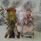 Куклы и пупсы ручной работы. Ярмарка Мастеров - ручная работа Лесные жители (Баба Яга и Леший). Handmade.