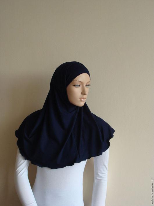 Этническая одежда ручной работы. Ярмарка Мастеров - ручная работа. Купить Базовый хиджаб - амира  темно синий. Handmade. Коричневый