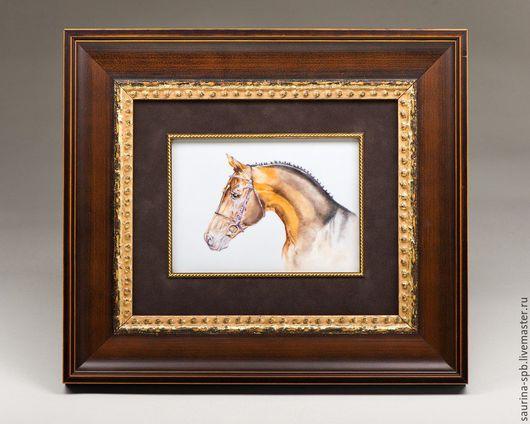 Животные ручной работы. Ярмарка Мастеров - ручная работа. Купить Панно настенное Лошадь. Handmade. Лошадь, надглазурная роспись