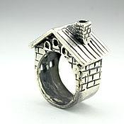 Украшения handmade. Livemaster - original item Silver Hut Ring HH0048. Handmade.