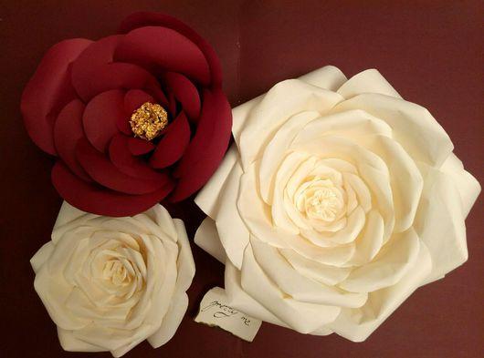 Свадебные цветы ручной работы. Ярмарка Мастеров - ручная работа. Купить Бумажные цветы. Handmade. Большие цветы, цветы для декора