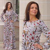 Одежда ручной работы. Ярмарка Мастеров - ручная работа Платье в пол Леона - длинное платье, осеннее платье. Handmade.