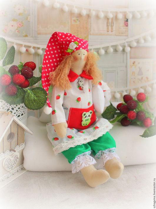 Куклы Тильды ручной работы. Ярмарка Мастеров - ручная работа. Купить Сонный ангел Лора. Handmade. Сонный ангел, в горошек