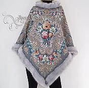 """Одежда ручной работы. Ярмарка Мастеров - ручная работа Пончо """"Тайна сердца-15"""" из Павловопосадского платка. Handmade."""