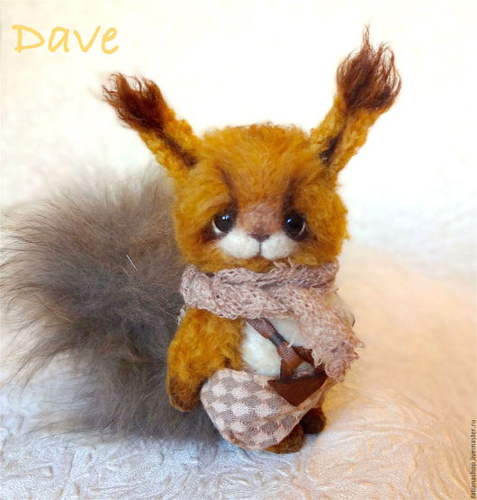 Мишки Тедди ручной работы. Ярмарка Мастеров - ручная работа. Купить Dave. Handmade. Рыжий, мишка тедди, фактурная пряжа