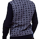 """Кофты и свитера ручной работы. Свитер """"Дирз"""" синий. Alexander (MySweaters). Интернет-магазин Ярмарка Мастеров. Свитер вязаный"""