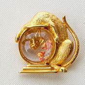 Винтаж handmade. Livemaster - original item CAT brooch and aquarium from JJ.. Handmade.