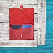 Сумки и аксессуары handmade. Livemaster - original item Passport cover Hoof Red. Handmade.