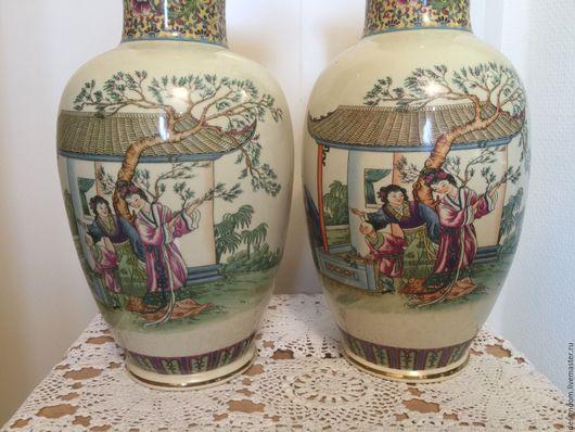 Винтажные предметы интерьера. Ярмарка Мастеров - ручная работа. Купить 2 Вазы  Китай. Handmade. Фарфор, ваза для сухоцветов, фарфор
