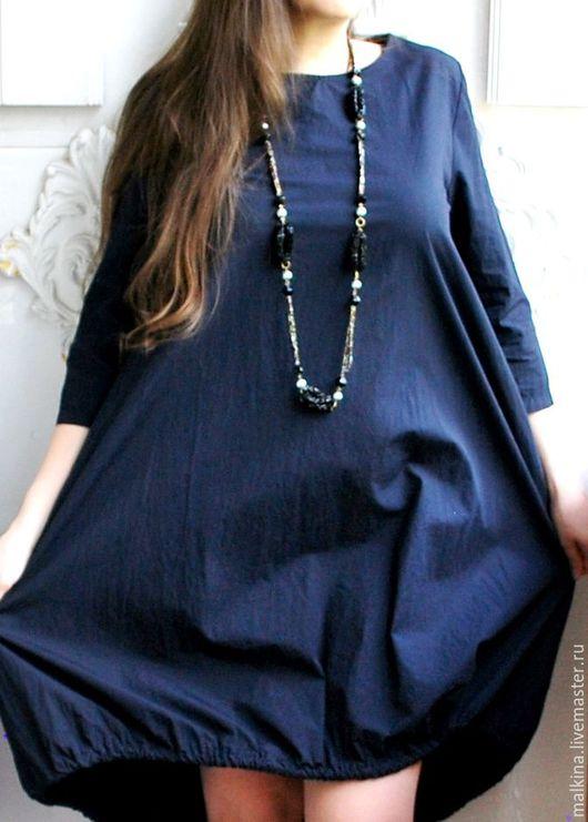 Платья ручной работы. Ярмарка Мастеров - ручная работа. Купить Дизайнерское платье Ежевика. Handmade. Тёмно-синий, дизайнерское платье
