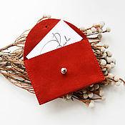 Кошельки ручной работы. Ярмарка Мастеров - ручная работа Кошелек для кредиток из натуральной кожи Кларк, подарок коллегам. Handmade.