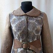 """Одежда ручной работы. Ярмарка Мастеров - ручная работа куртка валяная из флиса """"Мудрая сова"""". Handmade."""