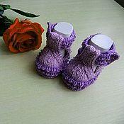 Работы для детей, handmade. Livemaster - original item Booties knitted shoes. Handmade.