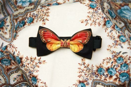 Галстуки, бабочки ручной работы. Ярмарка Мастеров - ручная работа. Купить Галстук-бабочка Бабочка. Handmade. Рисунок, галстук