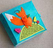 """Куклы и игрушки ручной работы. Ярмарка Мастеров - ручная работа Развивающая книжка """"Лисенок и Мандариновое дерево"""". Handmade."""