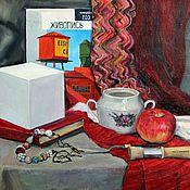 """Картины ручной работы. Ярмарка Мастеров - ручная работа Натюрморт  """"Красное и черное"""". Картина маслом. Handmade."""