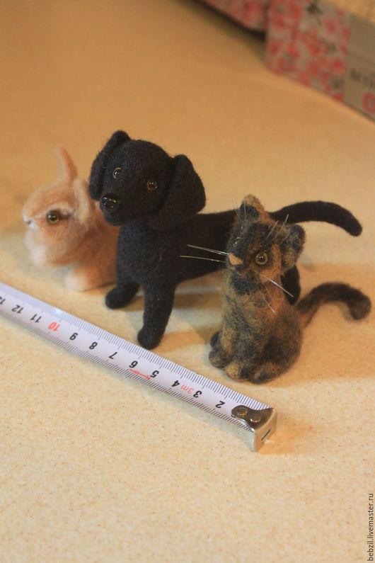Игрушки животные, ручной работы. Ярмарка Мастеров - ручная работа. Купить Валяные игрушки миниатюры для интерьерных кукол. Handmade.