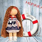 Куклы и игрушки ручной работы. Ярмарка Мастеров - ручная работа Девочка-морячка. Handmade.
