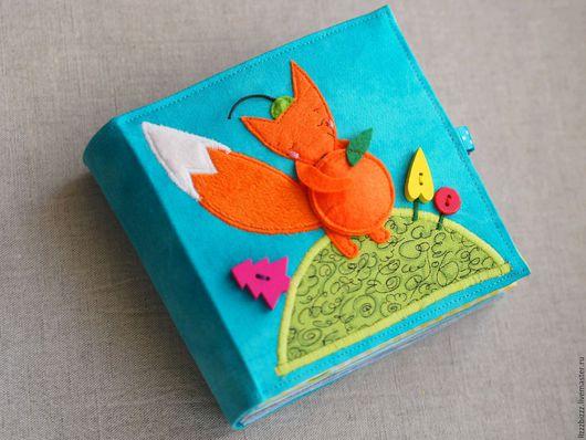 """Развивающие игрушки ручной работы. Ярмарка Мастеров - ручная работа. Купить Развивающая книжка """"Лисенок и Мандариновое дерево"""". Handmade. Рыжий"""