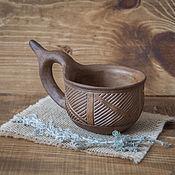 Чашки ручной работы. Ярмарка Мастеров - ручная работа Скифская рогатая чашка-ковш. Handmade.