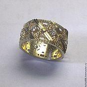 Кольца ручной работы. Ярмарка Мастеров - ручная работа Кольцо с бриллиантами. Handmade.