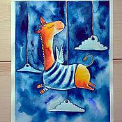 """Картины и панно ручной работы. Ярмарка Мастеров - ручная работа Картина акварелью """"Мечтатель"""". Handmade."""