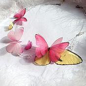 """Украшения ручной работы. Ярмарка Мастеров - ручная работа Колье """"Summer Melody"""" с бабочками Морфо!. Handmade."""