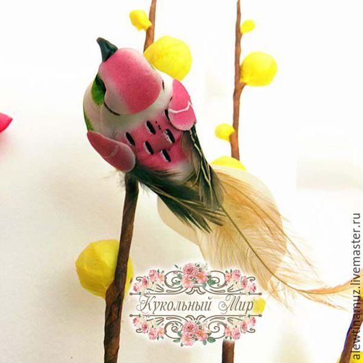 Куклы и игрушки ручной работы. Ярмарка Мастеров - ручная работа. Купить Птичка.. Handmade. Комбинированный, пенопласт