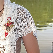 Аксессуары ручной работы. Ярмарка Мастеров - ручная работа Белый ажурный шарф. Handmade.