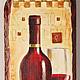 """Репродукции ручной работы. Ярмарка Мастеров - ручная работа. Купить Панно настенное """"Красное вино"""". Handmade. Панно с бутылками"""
